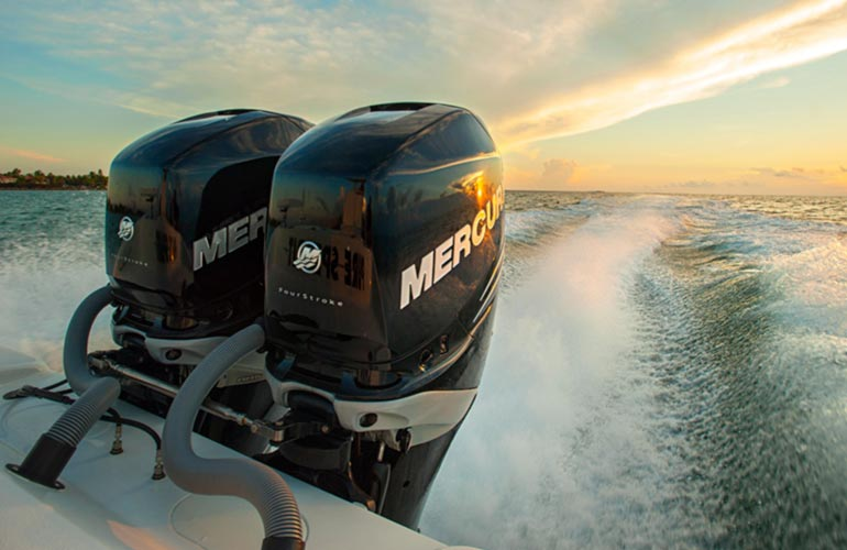 Mercury outboard motors at Leisure Marine
